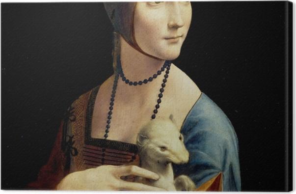 Leinwandbild Leonardo da Vinci - Dame mit dem Hermelin - Reproduktion