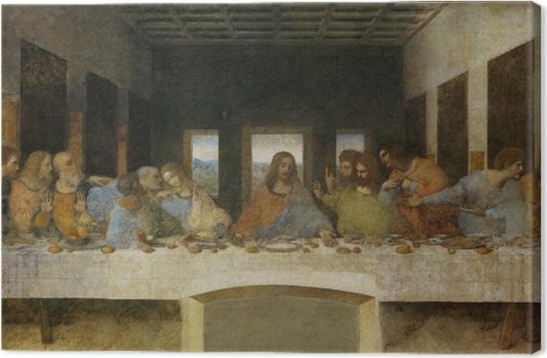 Leinwandbild Leonardo da Vinci - Das Abendmahl - Reproduktion