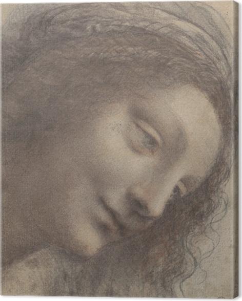 Leinwandbild Leonardo da Vinci - Kopf einer Frau - Reproduktion