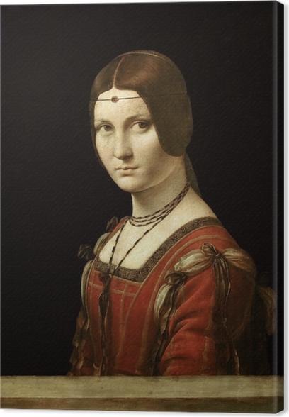 Leinwandbild Leonardo da Vinci - La Belle Ferronière - Reproduktion