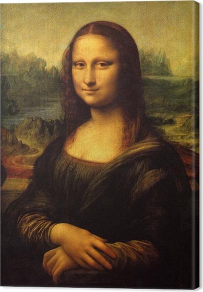 Leinwandbild Leonardo da Vinci - Mona Lisa - Reproduktion