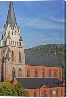 Leinwandbild Liebfrauenkirche in Oberwesel / Rhein / Rheinland Pfalz