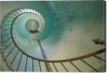 Leinwandbild Lighthouse staircase