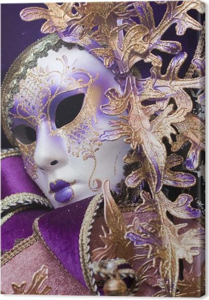 Leinwandbild Lila dekorativen venezianischen Maske • Pixers® - Wir ...