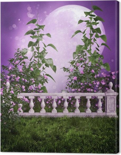 Leinwandbild Lila Marmor Gartenzaun • Pixers® - Wir leben, um zu ...