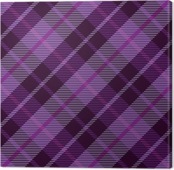 Leinwandbild Lila Plaid Tartan nahtlose Muster Hintergrund • Pixers ...