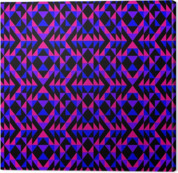 Leinwandbild Lila, rosa und blaue Muster • Pixers® - Wir leben, um ...
