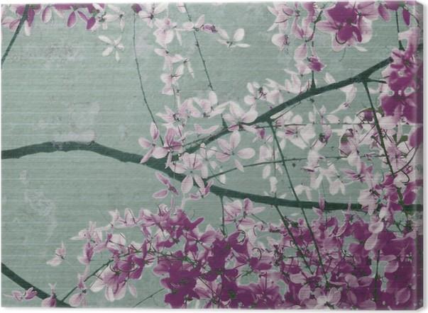 Leinwandbild Lila und weißen Blumen blühen • Pixers® - Wir leben, um ...