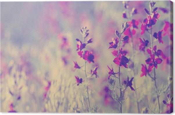 Leinwandbild Lila wilde Blumen • Pixers® - Wir leben, um zu verändern