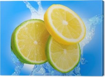 Leinwandbild Lime Welt