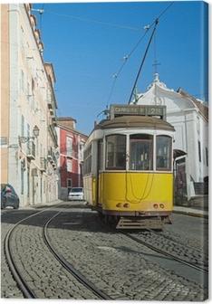 Leinwandbild Lissabon-Tram-Gelb - Zeile 28