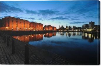 Leinwandbild Liverpool Skyline bei Nacht