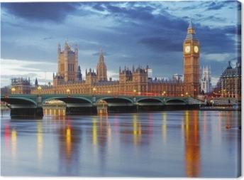 Leinwandbild London - Big Ben und Häuser des Parlaments, UK