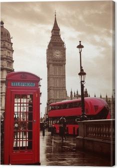 Leinwandbild Londoner Straße