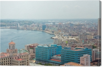 Leinwandbild Luftaufnahme des Havana Ufer