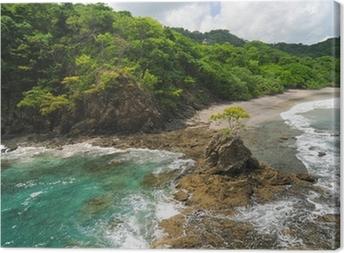 Leinwandbild Luftbild der westlichen Costa Rica