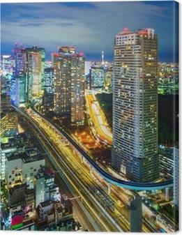Leinwandbild Luftbild von Tokio Wolkenkratzer, Minato