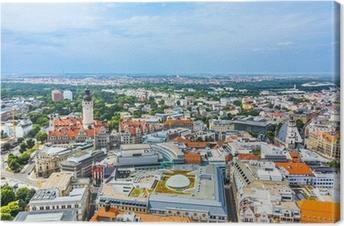 Leinwandbild Luftbild zur Stadt Leipzig