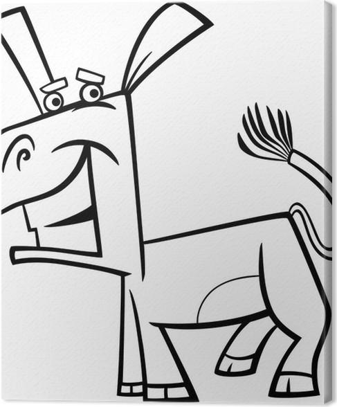 Leinwandbild Lustigen Esel-Malvorlagen • Pixers® - Wir leben, um zu ...