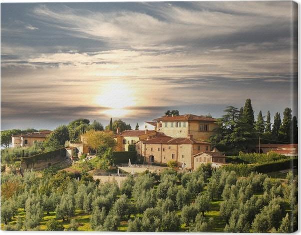 leinwandbild luxus villa in der toskana ber hmt weinberg in italien pixers wir leben um. Black Bedroom Furniture Sets. Home Design Ideas