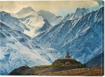 Leinwandbild Maitreya bei Floppy-Kloster, Ladakh, Indien