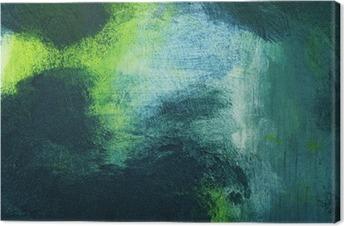 Leinwandbild Makro der Malerei, bunte abstrakte