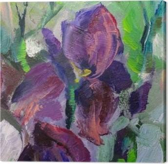 Leinwandbild Malerei Stillleben Ölgemälde Textur, Iris Impressionismus ein