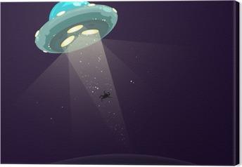 Leinwandbild Man entführte durch UFO