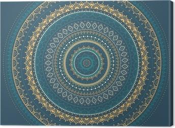Leinwandbild Mandala. Indian dekorativen Muster.