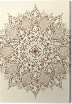 Leinwandbild Mandala. Schöne Hand gezeichnete Blume.