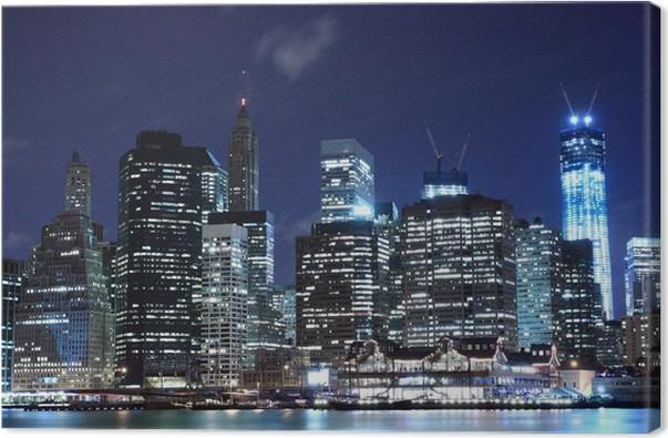 New York Leinwandbild ~ Leinwandbild manhattan skyline at night new york city u2022 pixers