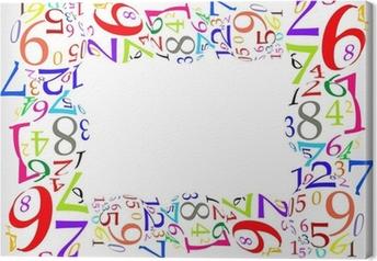 Leinwandbild Marco de números de Colores