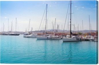 Leinwandbild Marina Hafen in Palma de Mallorca auf Balearen