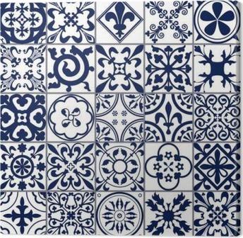 Leinwandbild Marokkanischen Fliesen Nahtlose Muster A