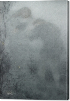 Leinwandbild Matthijs Maris - Figuren im Wald