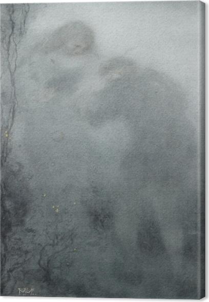 Leinwandbild Matthijs Maris - Figuren im Wald - Reproductions