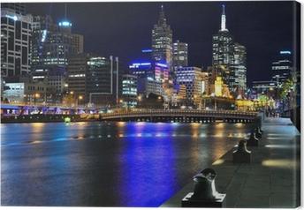 Leinwandbild Melbourne meiner Skyline und Yarra River