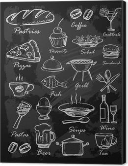 Leinwandbild Tafel Restaurant Menü-Schablone • Pixers® - Wir leben ...