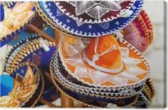 Leinwandbild Mexikanische Hüte