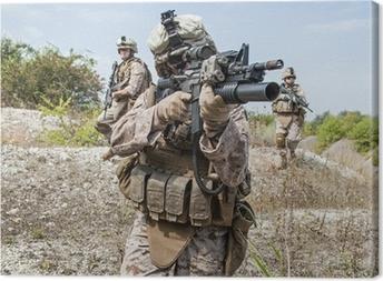 Leinwandbild Militäroperation