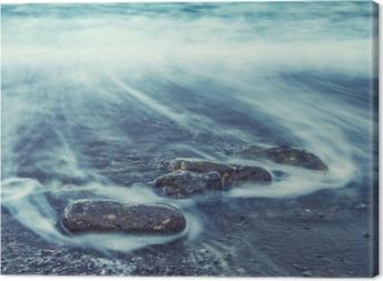 Leinwandbild Minimalist Seascape. Coastal Sunrise.