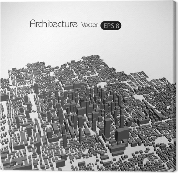 Leinwandbild Moderne City Vector Konzept   Kunst Und Gestaltung