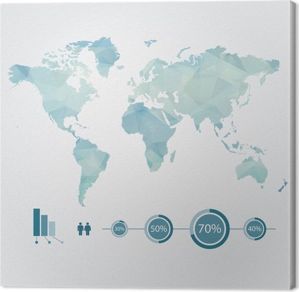 Leinwandbild Moderne Konzept Der Welt Karte Mit Infografik   Reisezubehör