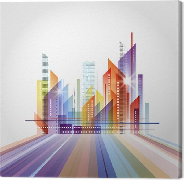 Leinwandbild Moderne Stadtbild Konzept Hintergrund   Stadt