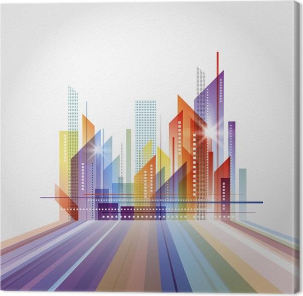 Attraktiv Leinwandbild Moderne Stadtbild Konzept Hintergrund   Stadt