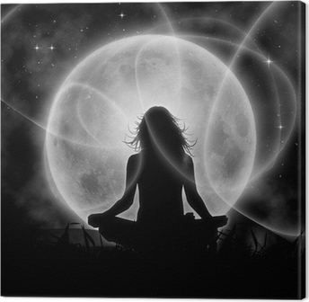 Leinwandbild Mond Meditation