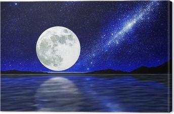 Leinwandbild Mond über Wasser