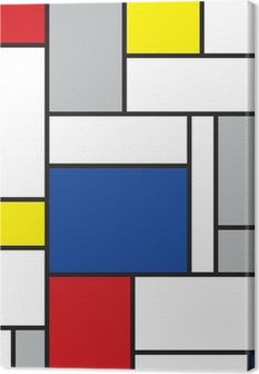 Leinwandbild Mondrian inspirierten Kunstwerke