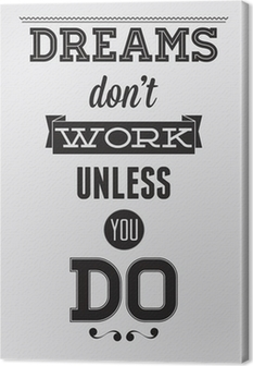 Leinwandbild Motivation Poster
