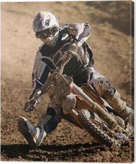 Leinwandbild Moto-Cross
